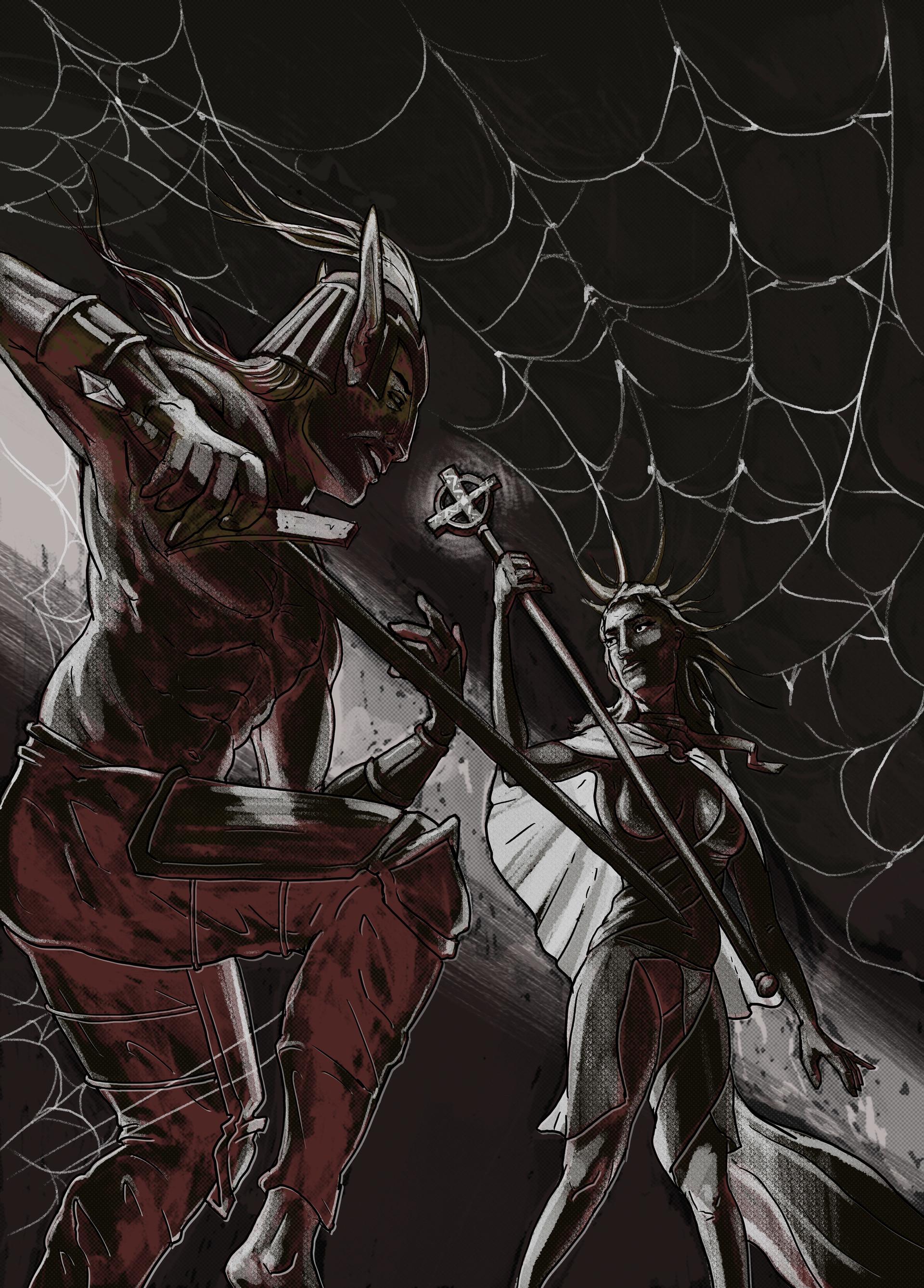 Niklas hook spiderchess illu
