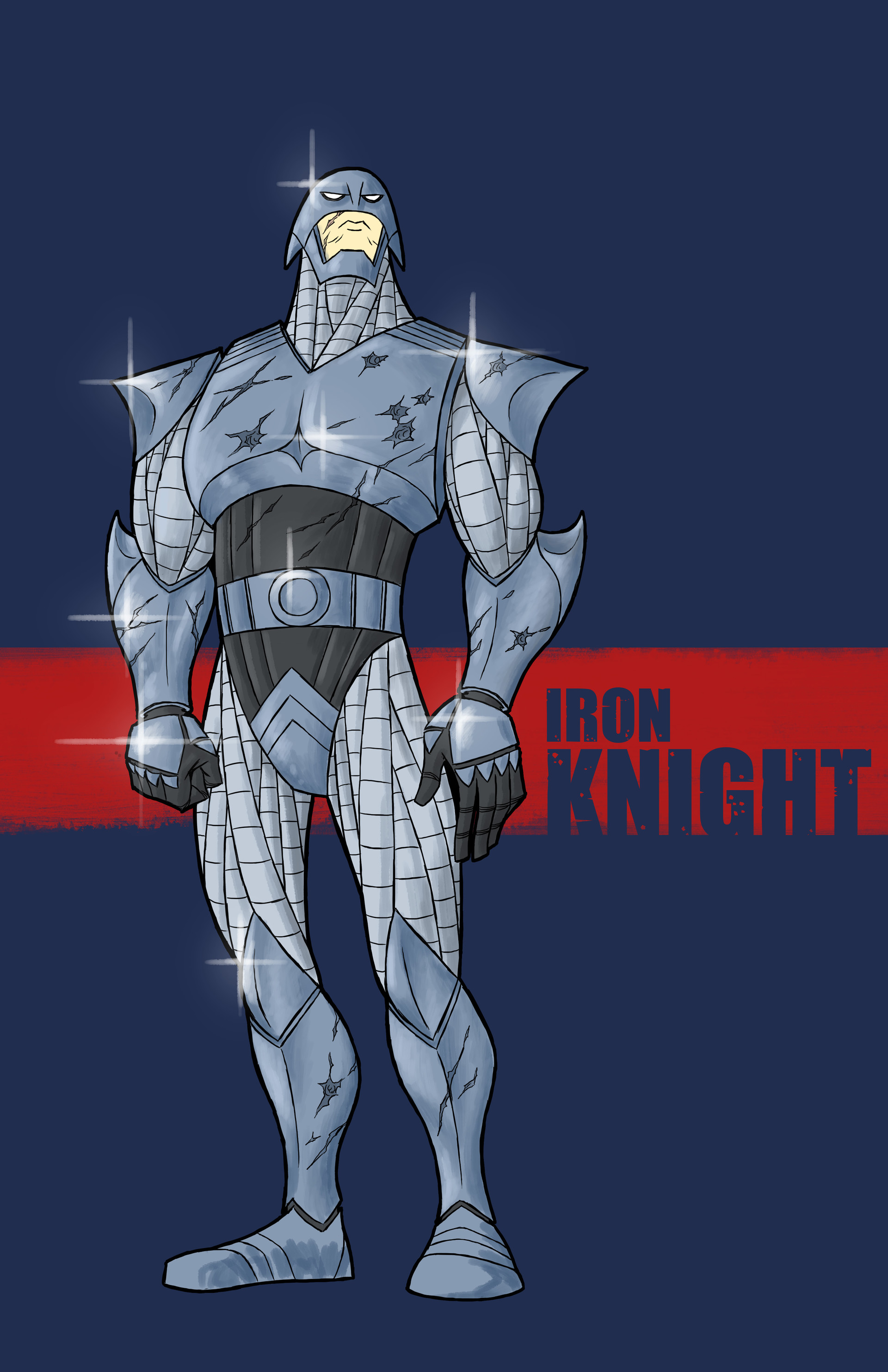 A powerful vigilante going by the alias Iron Knight. He fights against the evil corporations that took  everything from him and his family.