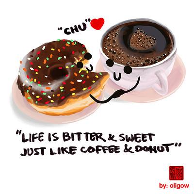 Oliver liao donut coffee oligow