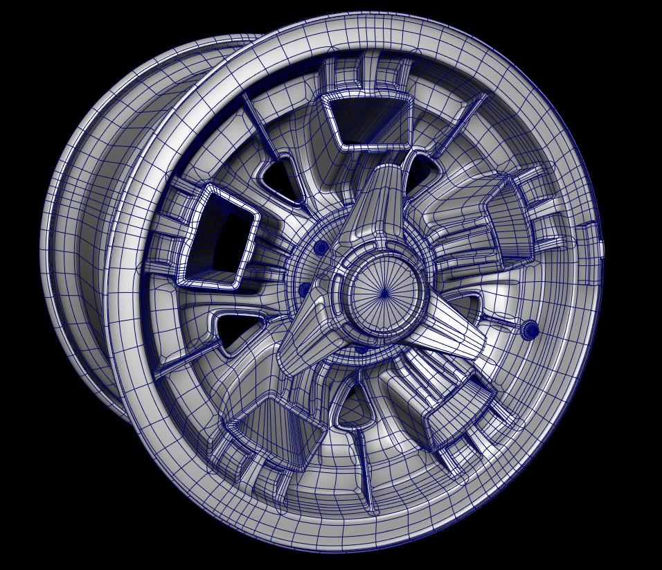Worth dayley wheel wireframe