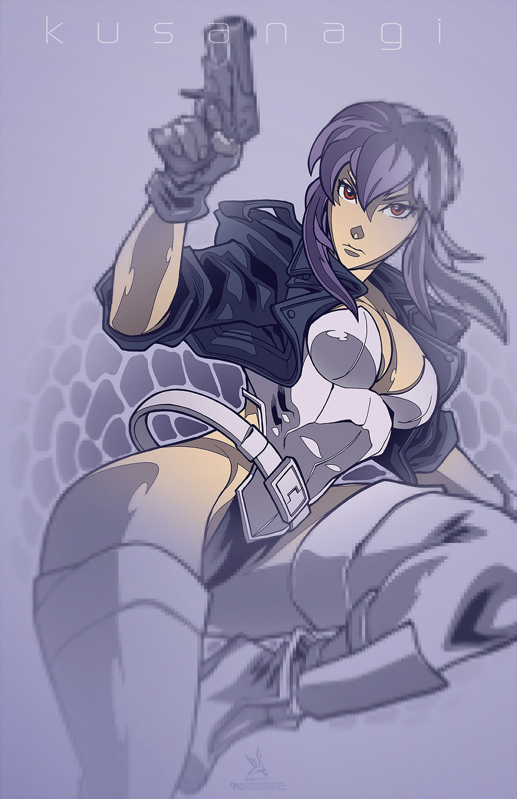 Ghost In The Shell Wallpaper, Motoko Kusanagi Background, Anime