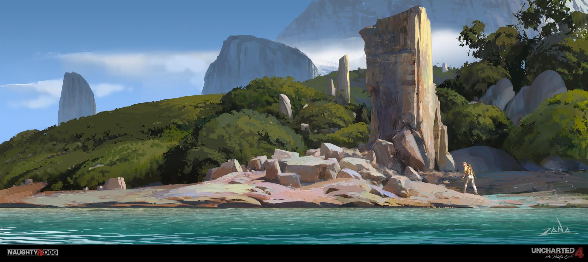 Artstation Uncharted 4 Beach Ruins Eytan Zana