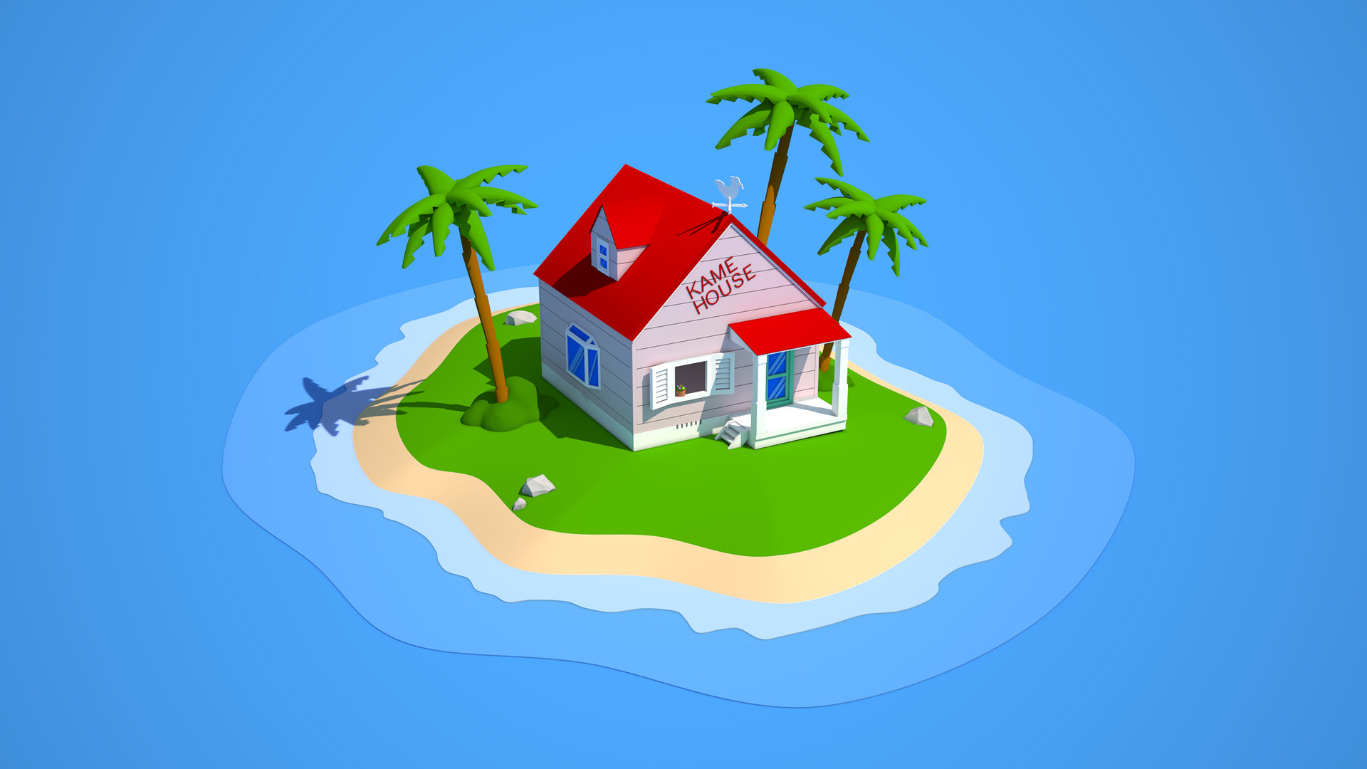 artstation dragon ball kame house nicolas oberson. Black Bedroom Furniture Sets. Home Design Ideas