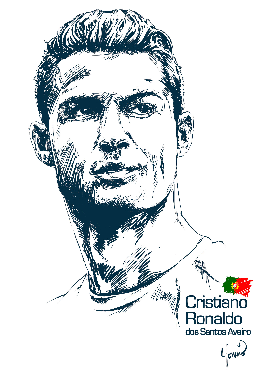 Cristiano Ronaldo Line Drawing