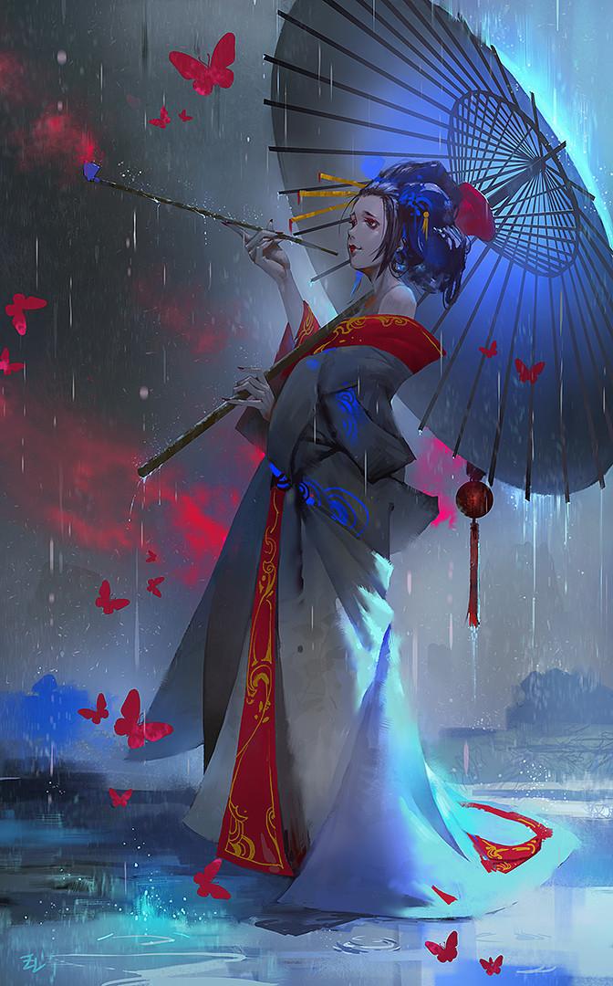 ArtStation Geisha Lee zudARTs