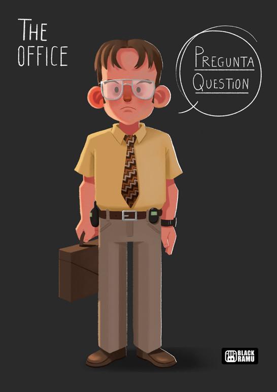 Artstation The Office Fan Art María