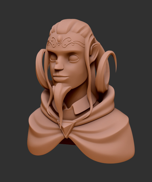 Tiefling Character Bust