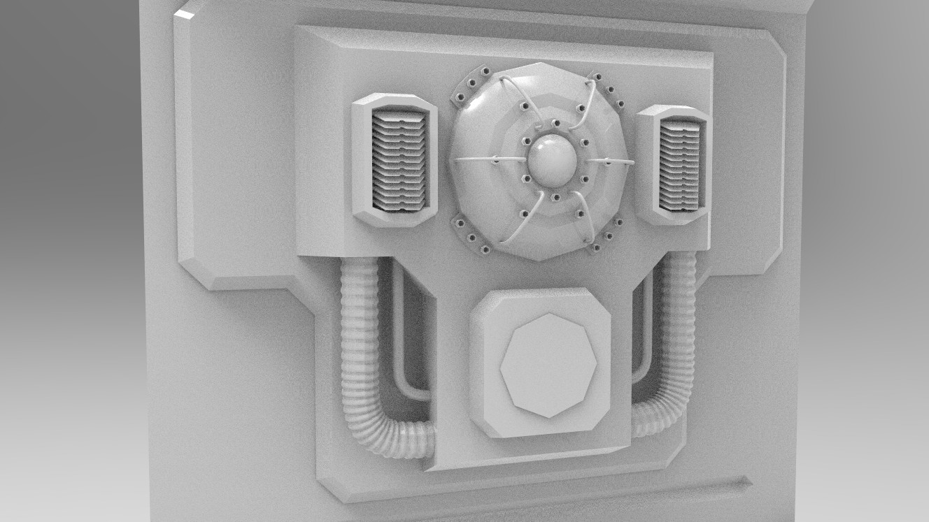 Nuclear Core Access Panel - Wall Insert