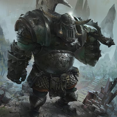Ignacio lazcano orc warhammer fan art