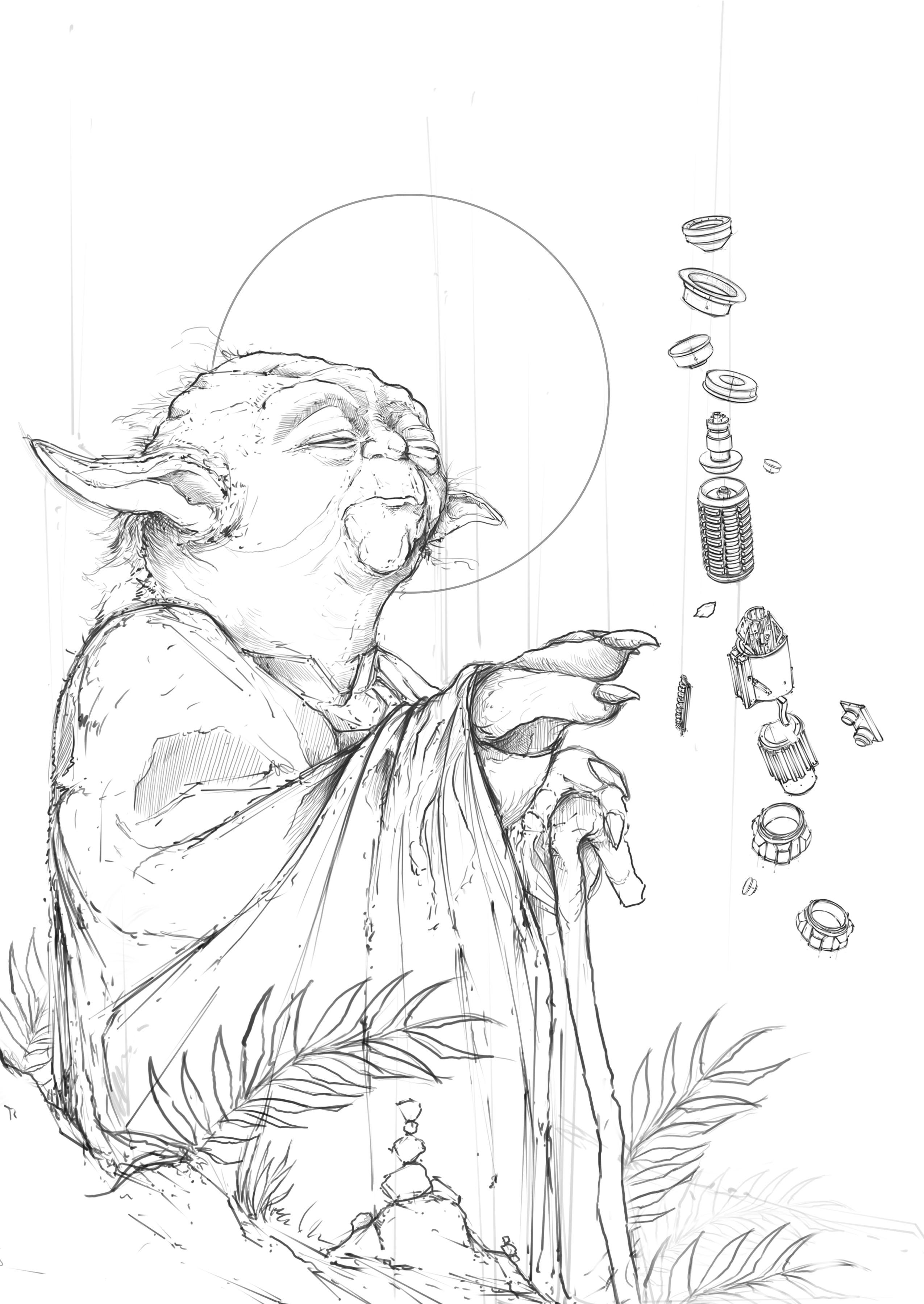 Yoda Constructing Sketch 1