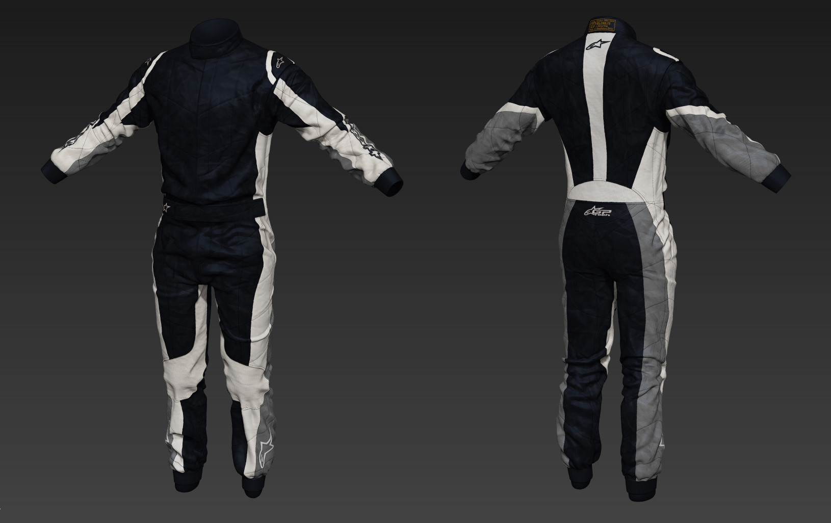 Toby hynes as suit sculpt textured 01