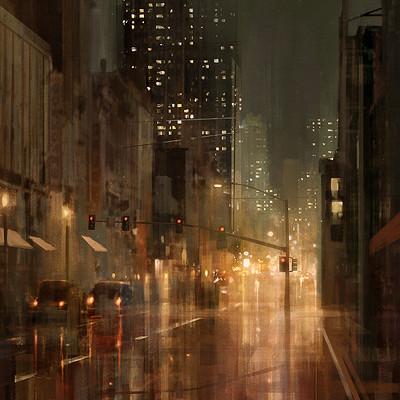 Bram sels jagsters scene rainy street bram sels