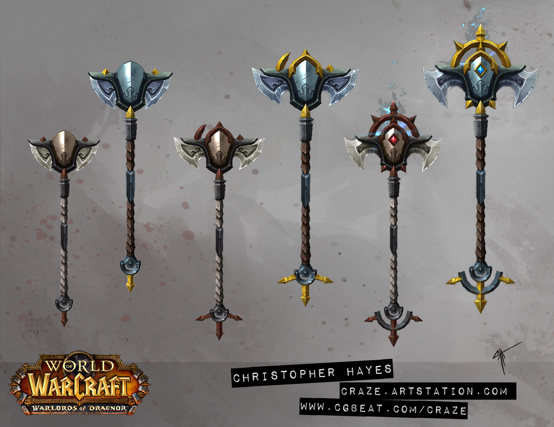 Christopher hayes crafted staff