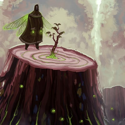 Travis lacey healing trees reviving life concept sketch fairy art maysketchaday 2016 web