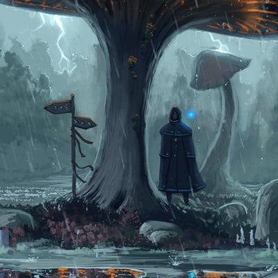 Travis lacey rainy mushroom day may april spring maysketchaday ravenseyestudios