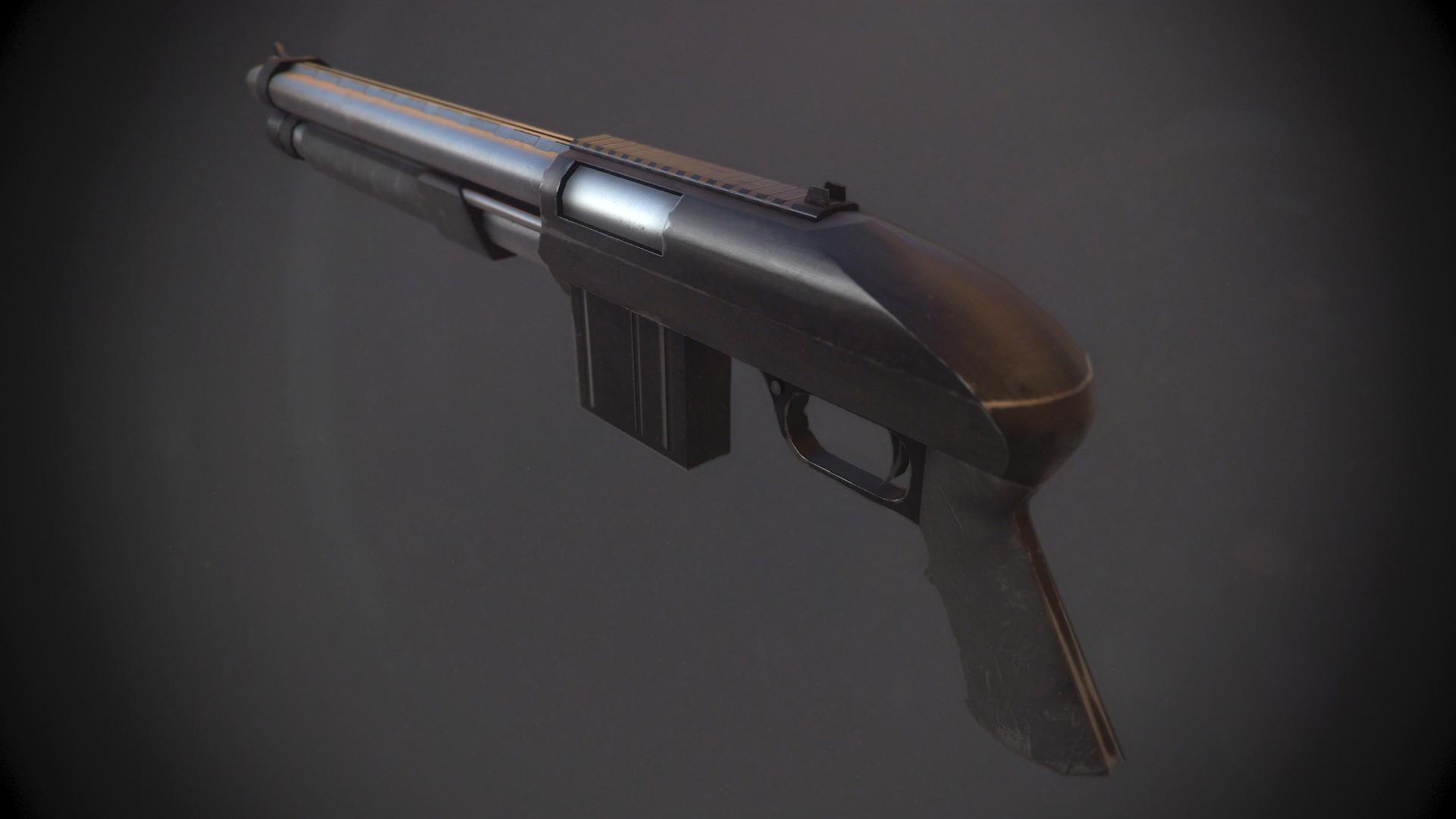 Xavier carton fusil a pompe 01