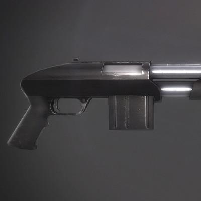 Xavier carton fusil a pompe 02
