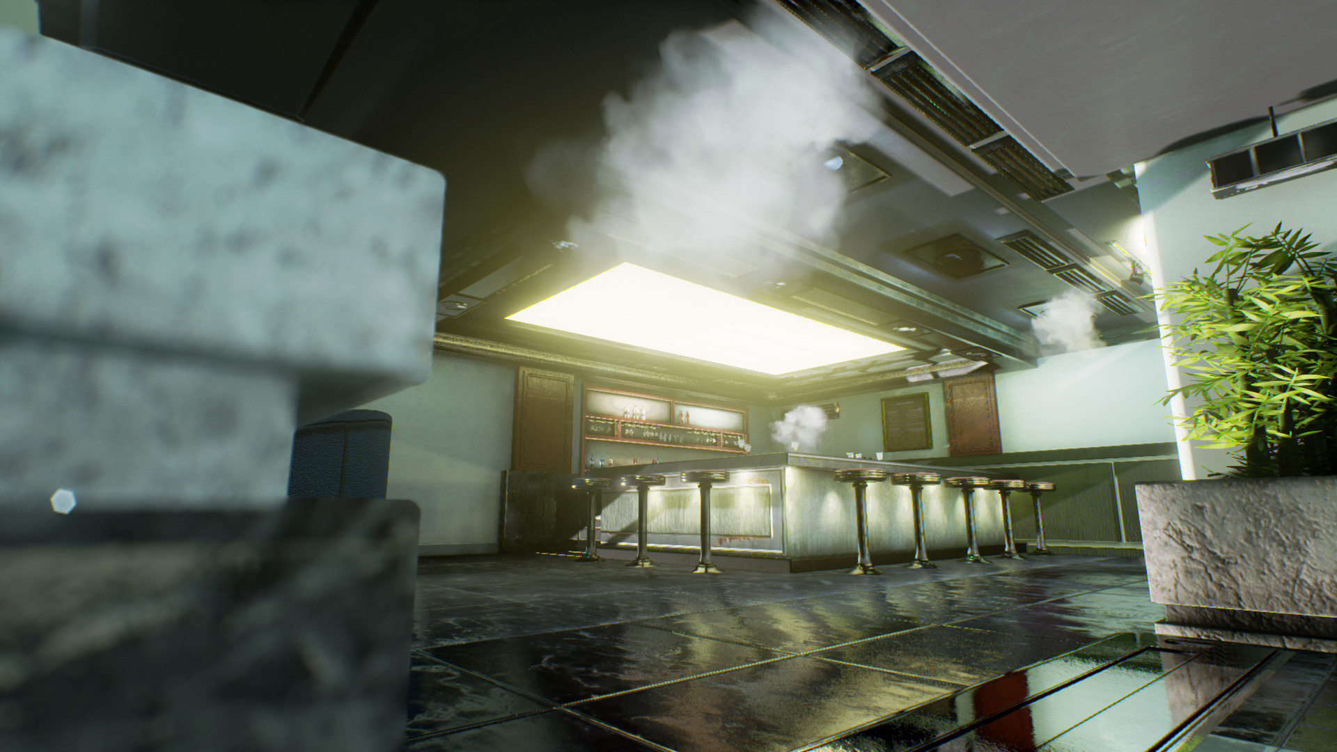 ArtStation - Metal Gear Solid 2, Tanker Lounge In Unreal