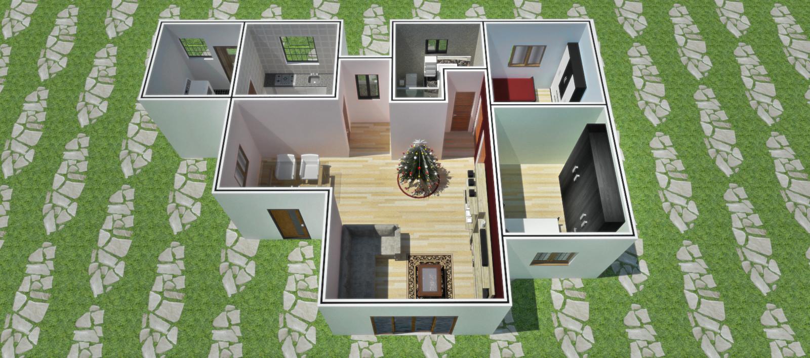 Aline de queiros projeto casa completo