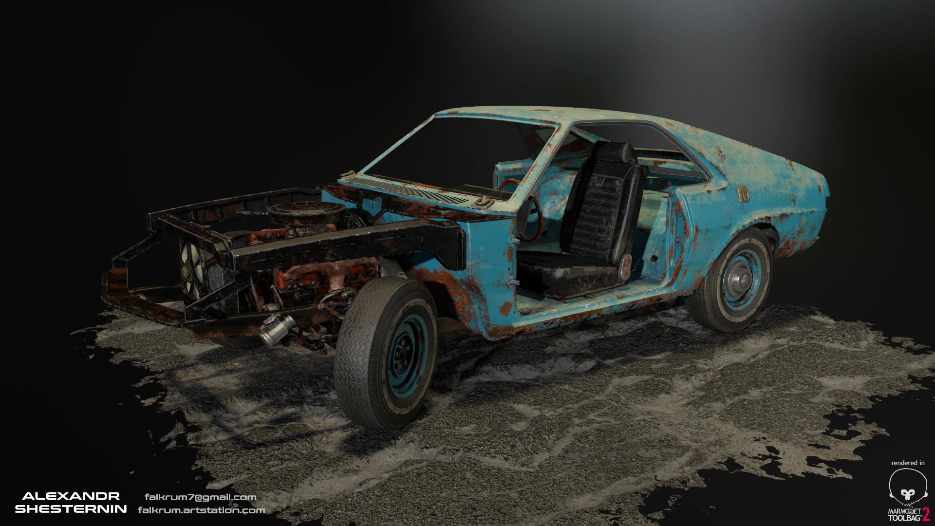 Alexandr shesternin modular abandoned car06