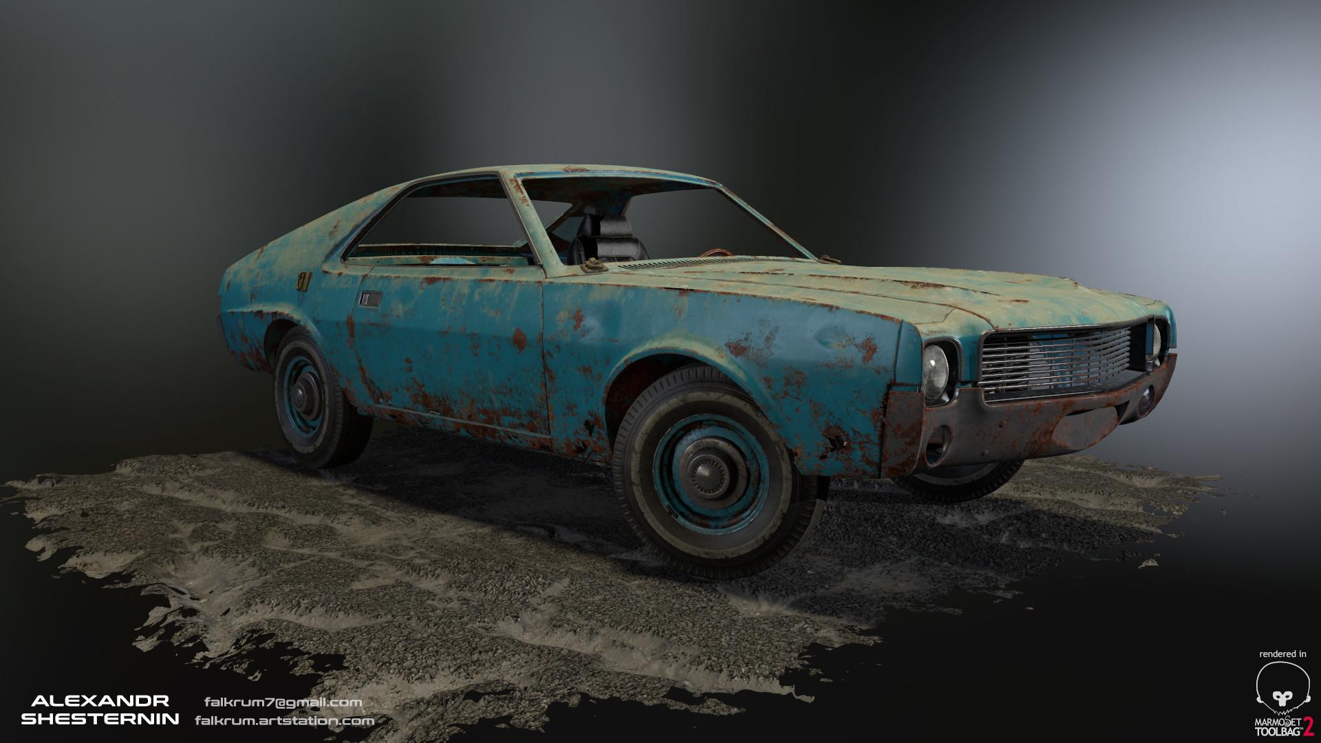 Alexandr shesternin modular abandoned car02