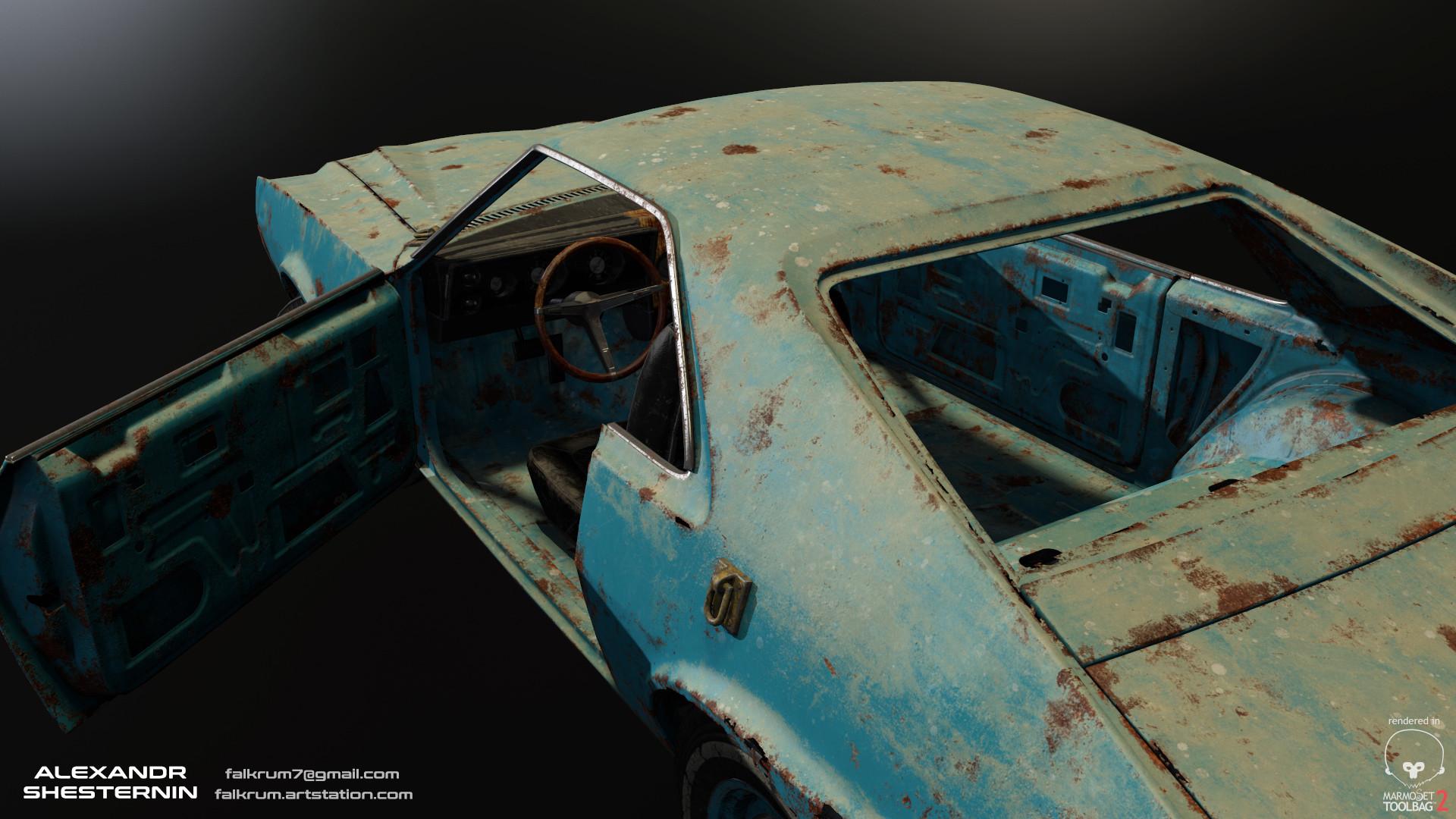 Alexandr shesternin modular abandoned car04