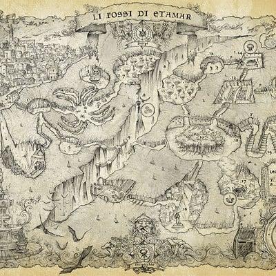 Francesca baerald katakumbas dungeon map by francescabaerald d9yi7m0