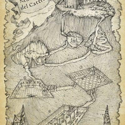 Francesca baerald katakumbas rpg dungeon map by francescabaerald da0qdqs