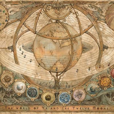 Francesca baerald the world of yr and the twelve moons map by francescabaerald da42acy