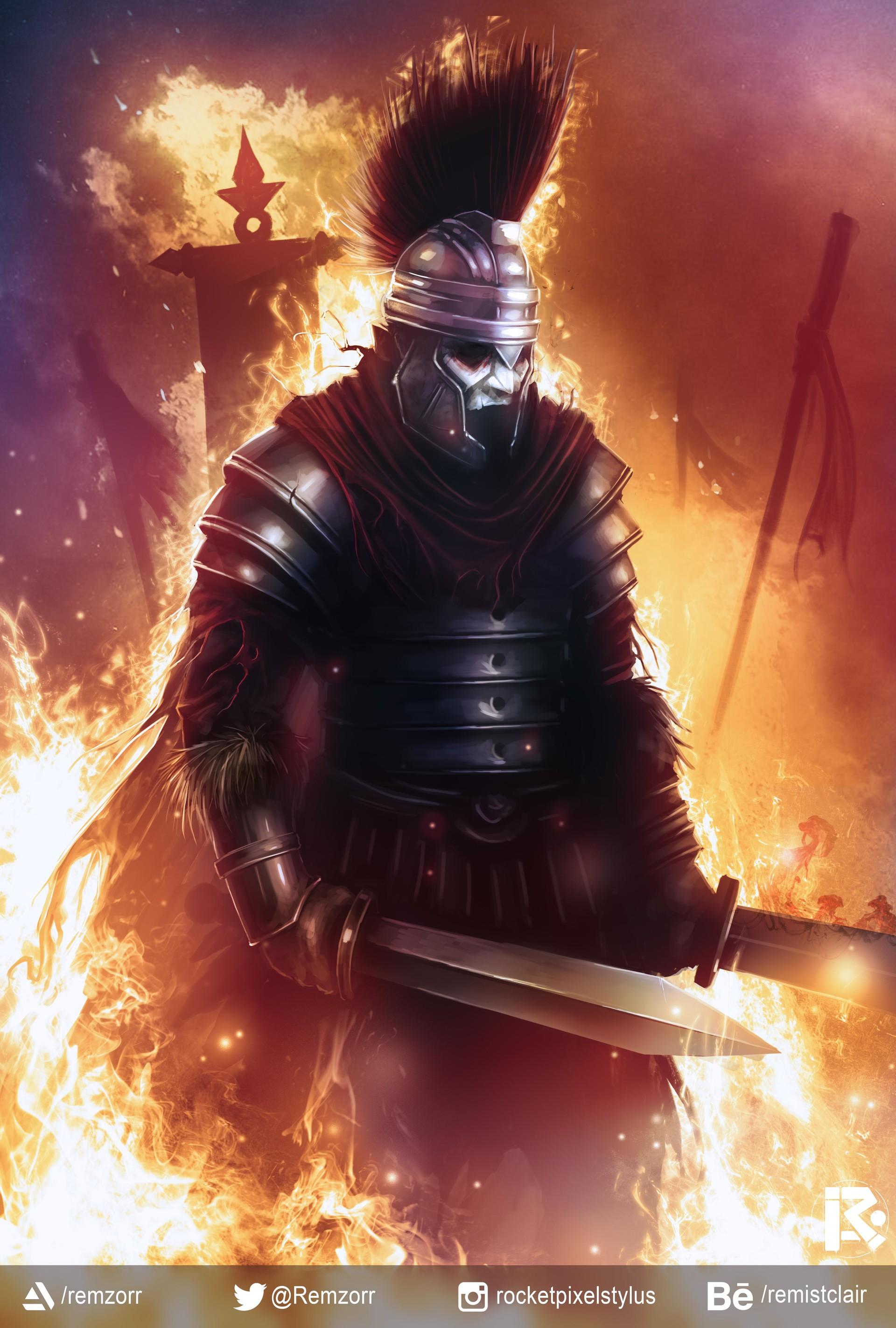 ArtStation - The Black Centurion, Remi Abrahams