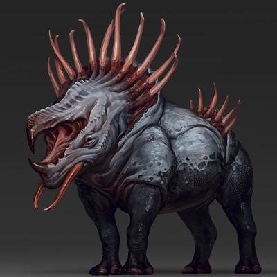 Evozon game studio rhino creature