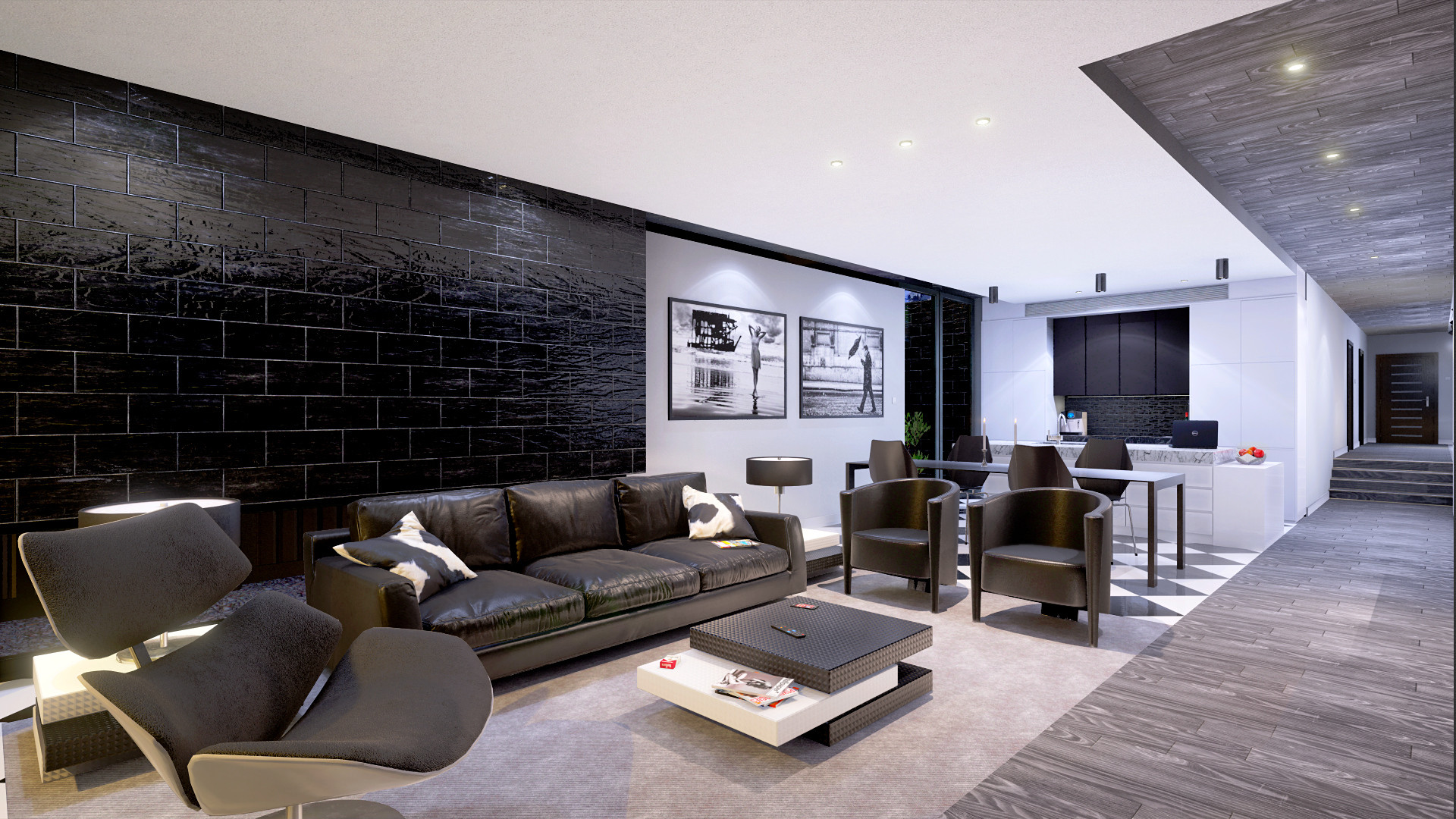 ArtStation - Black & White Architecture (Unreal Engine +
