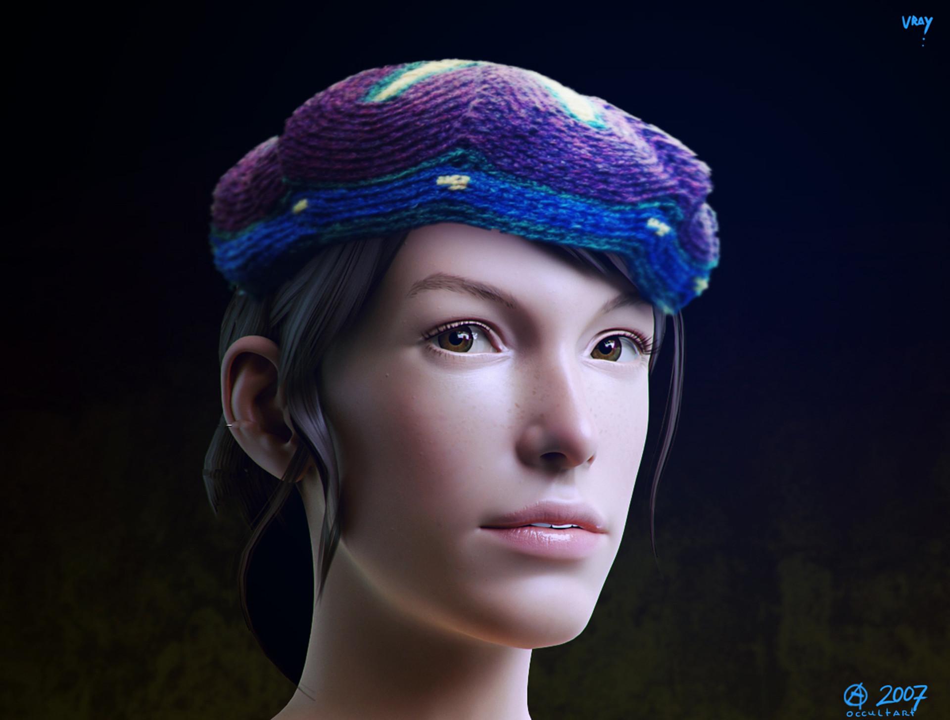 Occultart   girl head 004