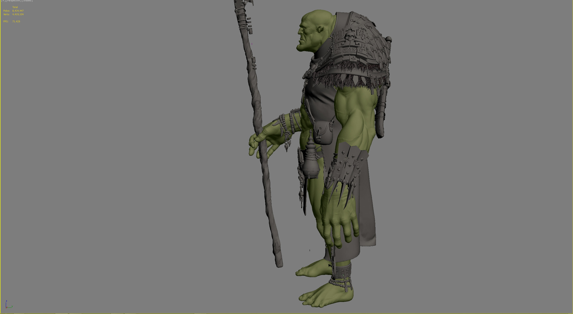 Occultart   orc shaman wip a 2