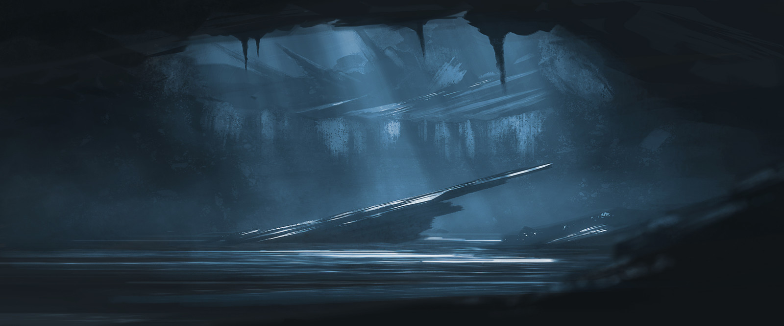 cave environment sketch