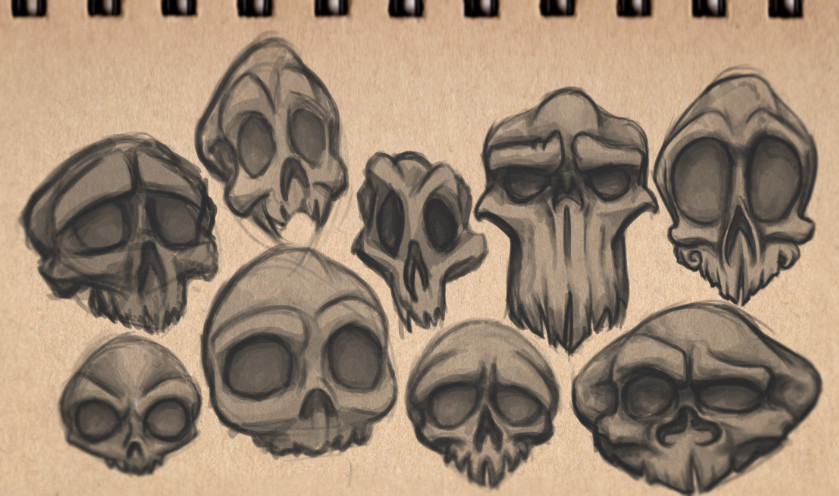 Tim jacksteit skull sketches 001