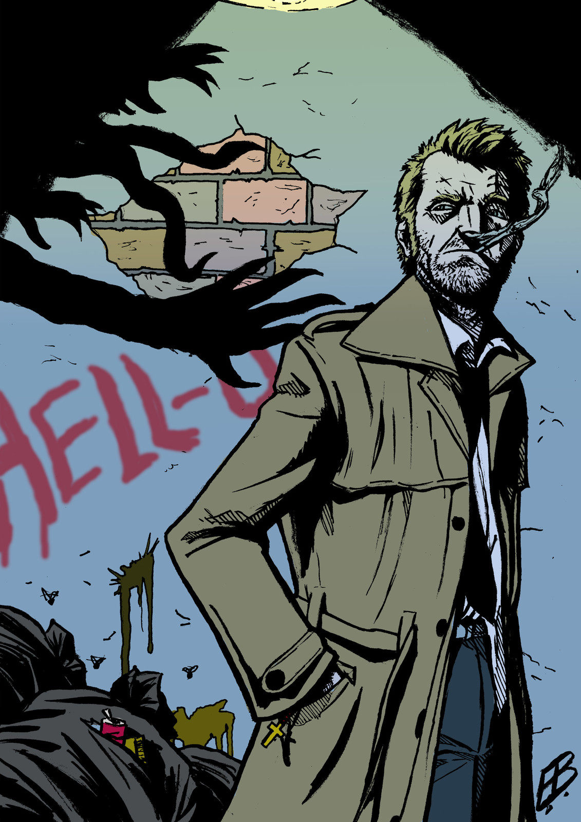 Alternate Colours, based on a palette from a panel of Hellblazer: City of Demons (Ps)