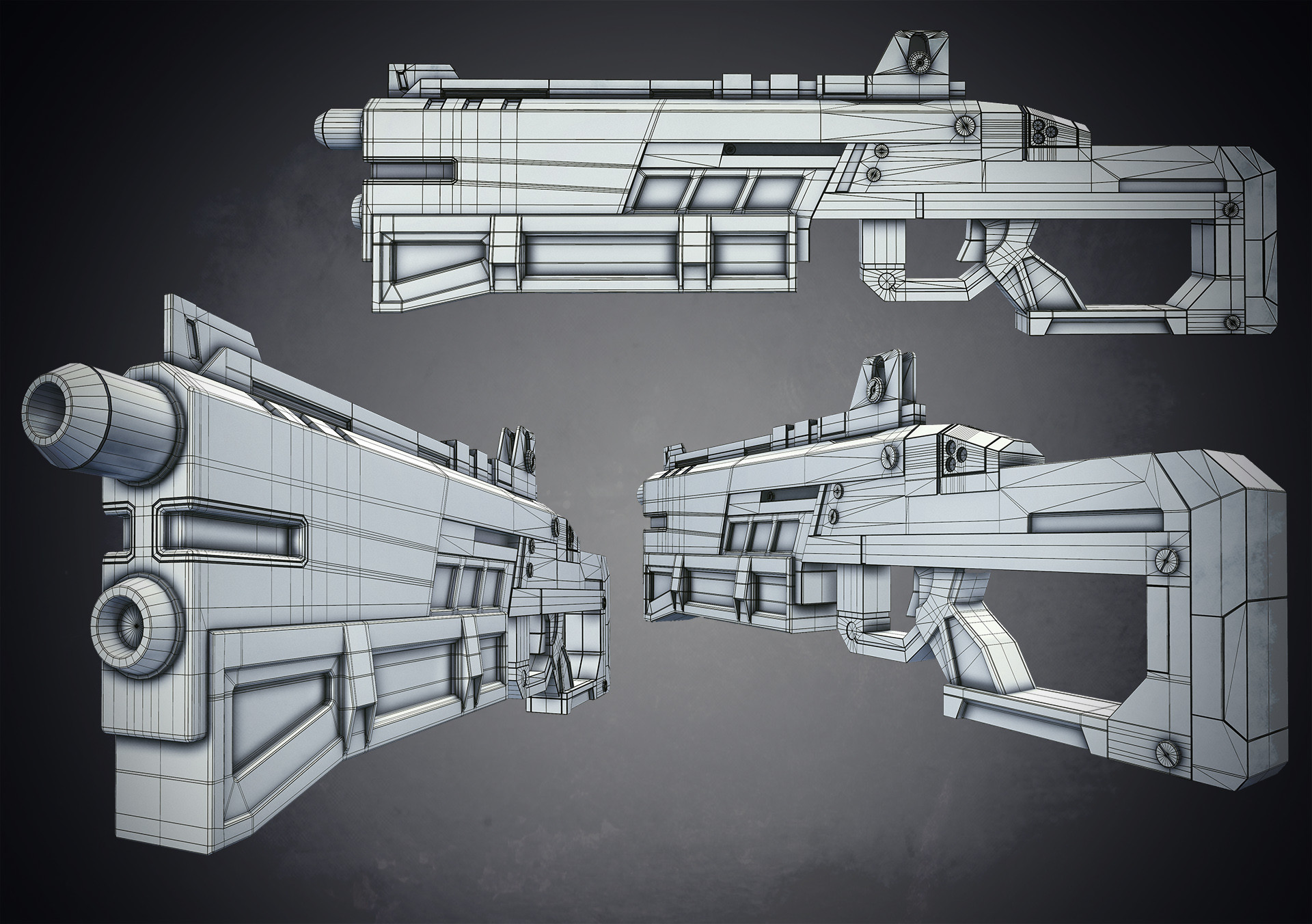 Álvaro Carreras - Unreal Engine / SCI-FI Rifle Practice - Inspired ...