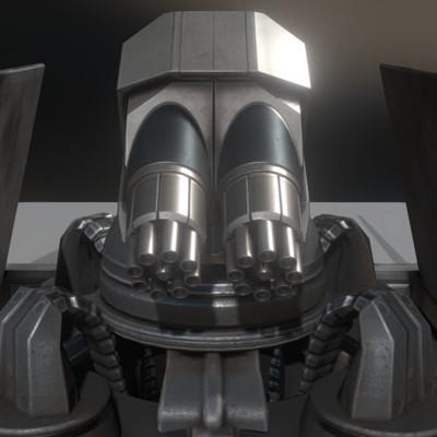 Dennis haupt futuristic gatling gun tower 2