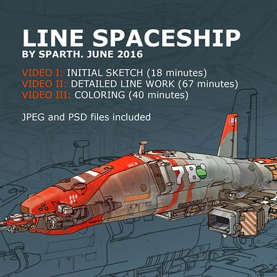 Sparth sparth line spaceship video tutorial s