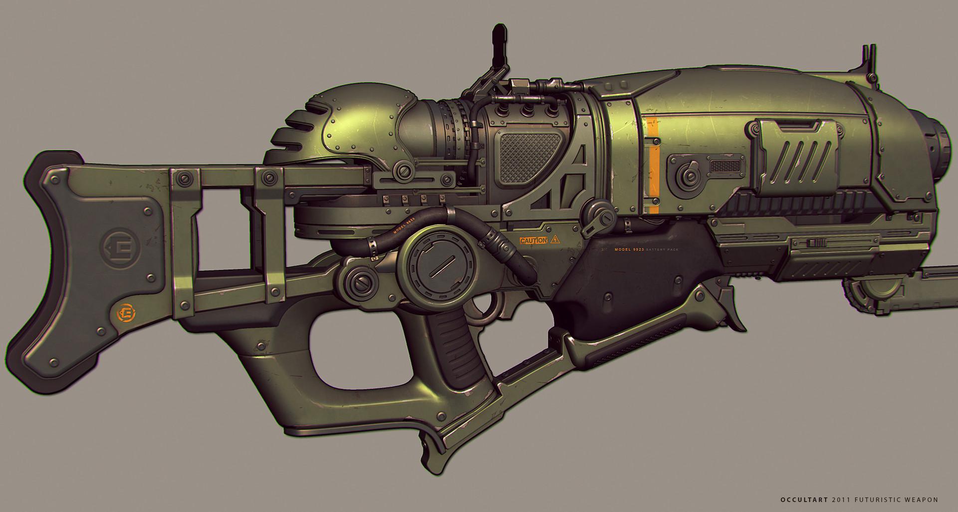 Occultart   futuristic gun concept wip b03