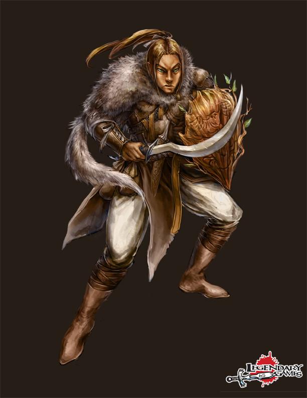 Illemandir Ziruul, half-elf arctic druid (menhir savant)