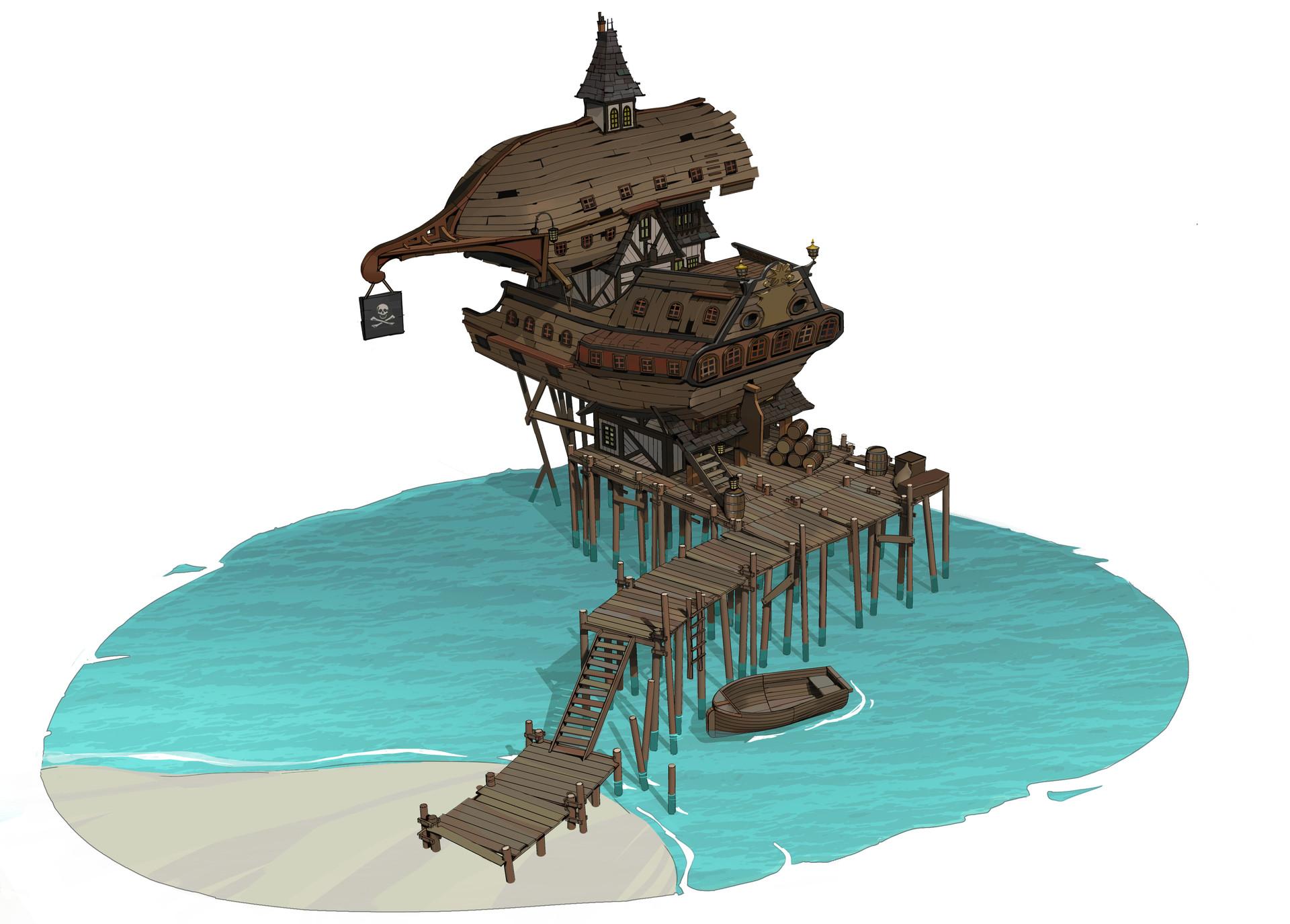 ArtStation - Pirate Architecture Designs, Brian Matyas