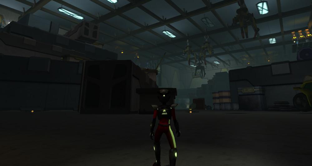 Screenshot of the Hangar.
