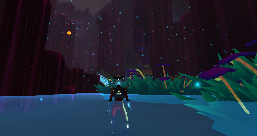 Screenshot of the Cave's cool area.