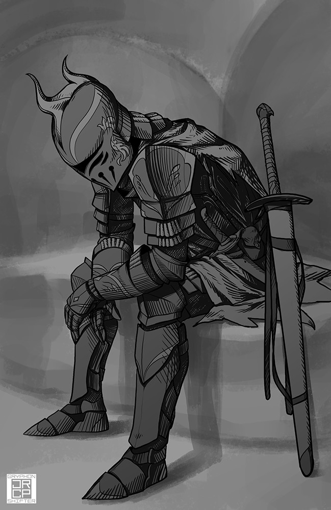 Crestfallen knight Meridian.