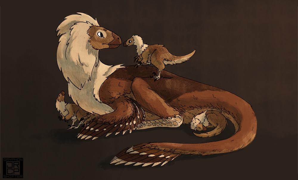 "16: ""Neoraptor."" What if velociraptors were domesticated like dogs?"