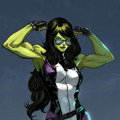 Harrison yinfaowei she hulk by spiderguile