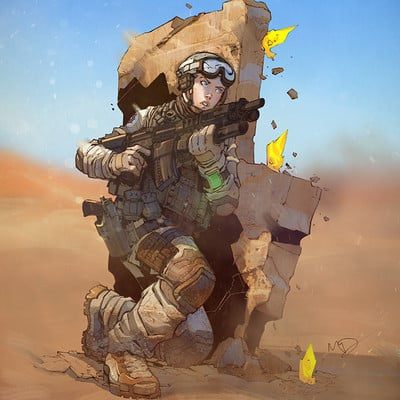 Harrison yinfaowei near future soldier commission by max dunbar