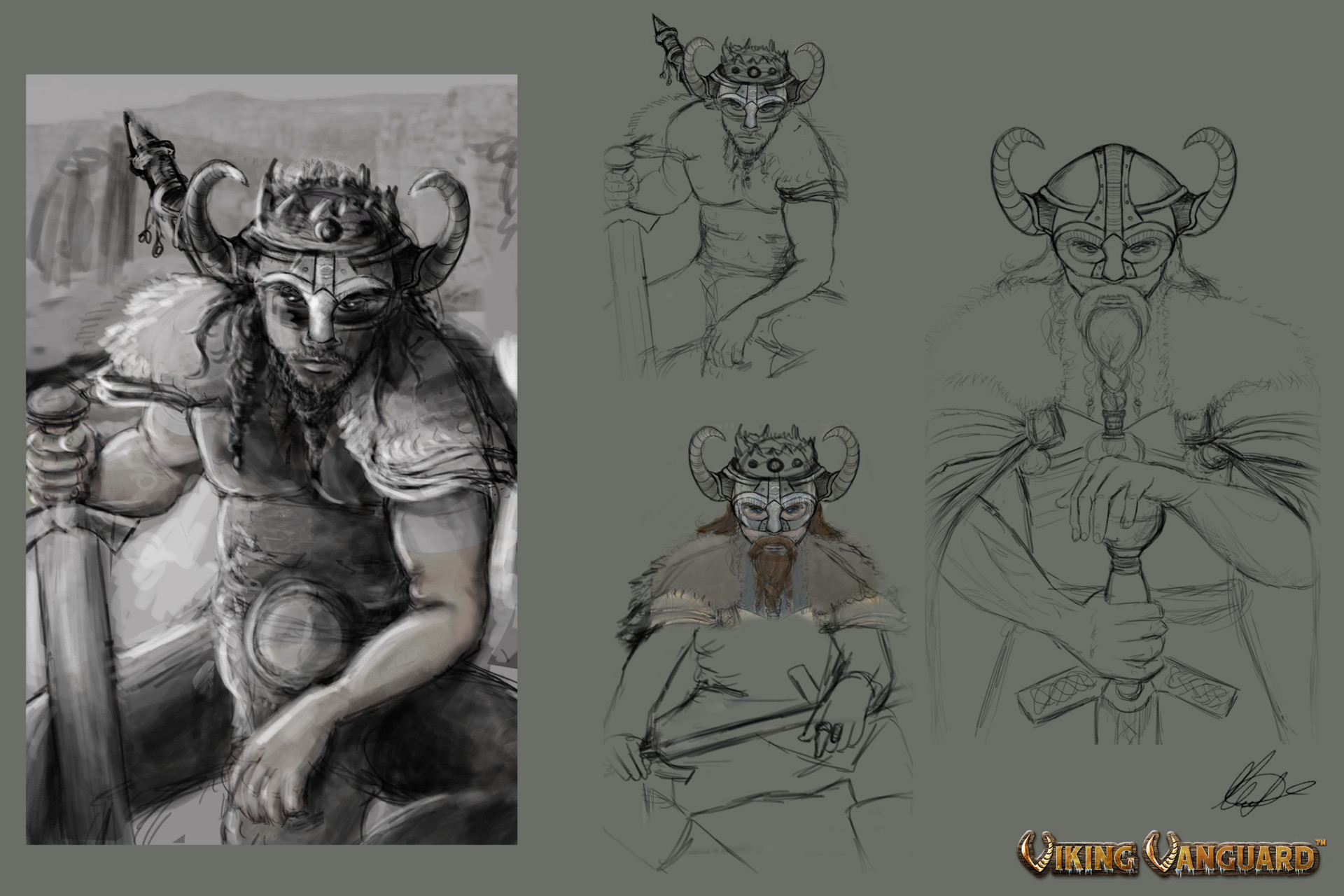 Viking King Early Concept drawings